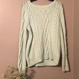Gap Aqua Cable Knit Sweater